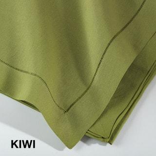 Hemstitched Linen Blend Tablecloth