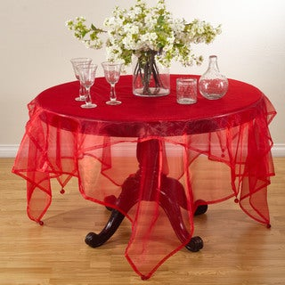Tissue Organza Sheer Tablecloth Topper (4 options available)