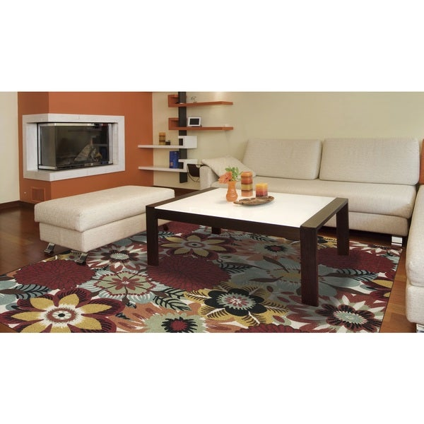 Rug Squared Sea Breeze Multicolor Rug (4' x 6')