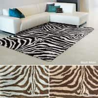 Rug Squared Winchester Zebra Shag Rug (5' x 7')
