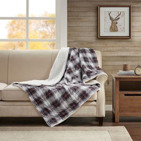 Woolrich Ridley Softspun Down Alternative Oversized Throw