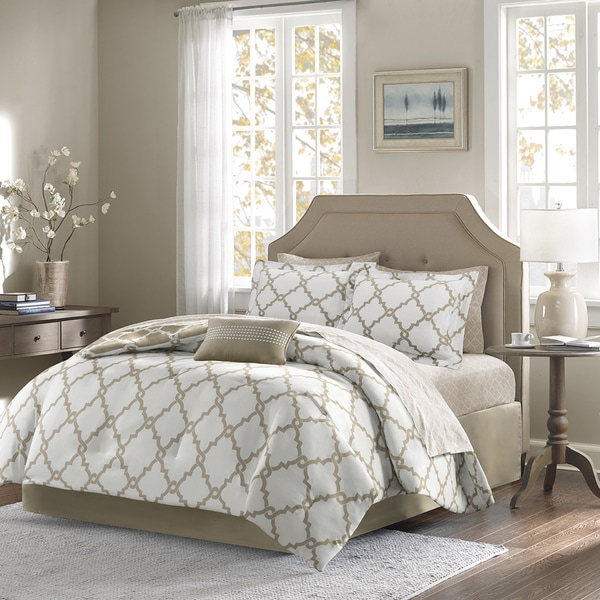 complete bedroom sets. Madison Park Essentials Diablo Taupe Reversible Complete Comforter and  Cotton Sheet Set Free Shipping Today Overstock com 17651635