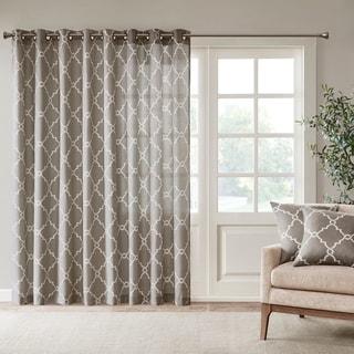 "Madison Park Westmont Fretwork Print Patio Single Window Panel - 100""w x 84""l"