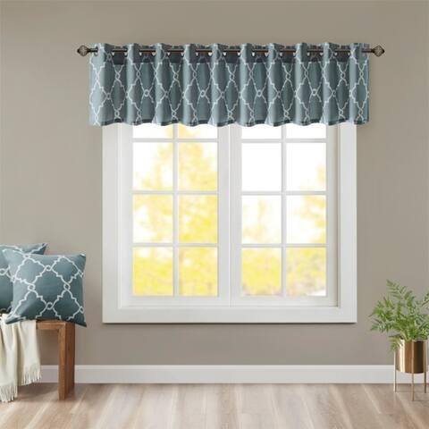 "Madison Park Westmont Fretwork Print Grommet Top Window Valance - 50x18"""