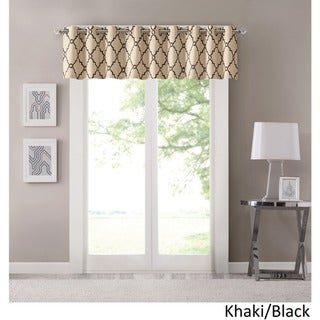 Madison Park Westmont Fretwork Print Grommet Top Window Valance - 50x18""