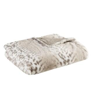 Madison Park Signature Geneva Luxury Faux Fur Throw