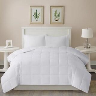 Sleep Philosophy Warm 300 Thread Count Cotton Sateen White Down Alternative 3M Thinsulate Comforter
