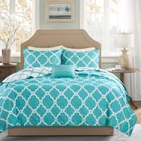 Clay Alder Home Denver Blue Diamond Reversible 4-piece Coverlet Set