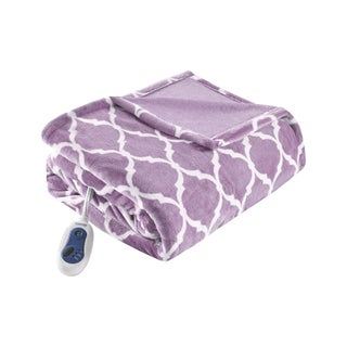 Beautyrest Oversized Heated Ogee Throw (Option: Lavender)