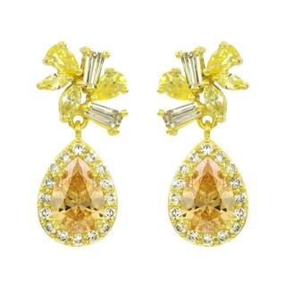 Champagne CZ Dangle Earrings