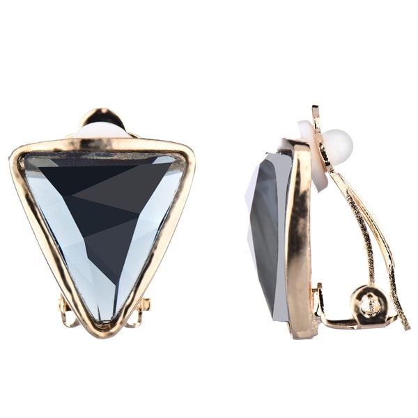 Grey Triangle Clip-On Earrings