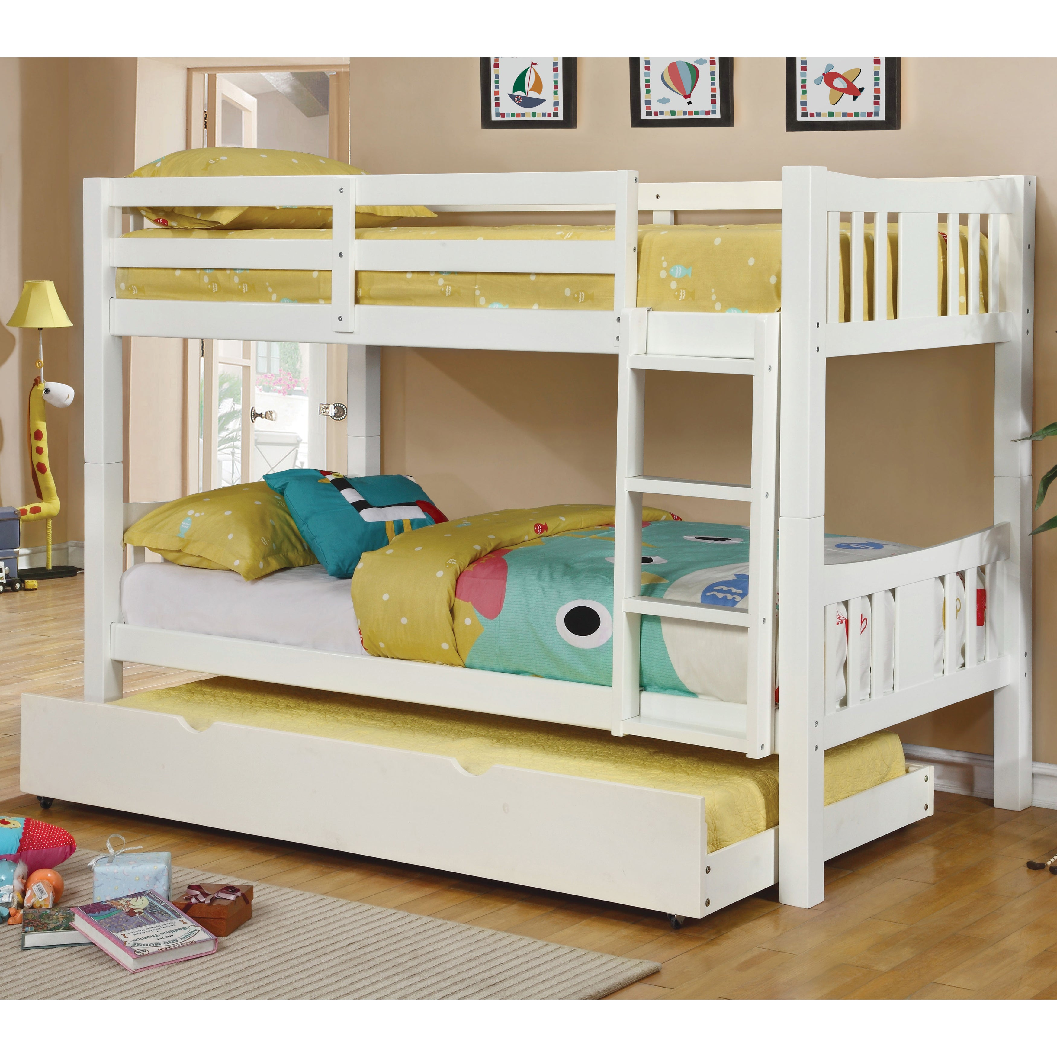 Furniture of America Pello 2-piece Twin over Twin Bunk Be...