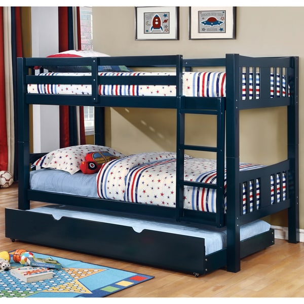 Boat Bed With Trundle And Toy Box Storage: Shop Pello Modern Twin Over Twin 2-Piece Bunk Bed With