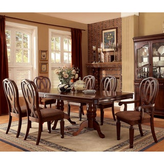 Furniture of America Woodrow Traditional 7-piece Cherry Dining Set