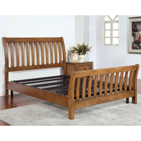 Furniture of America Guri Contemporary Black Metal Adjustable Bed Frame