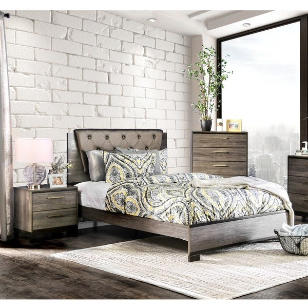Furniture of america silvine contemporary 3 piece antique grey bedroom set free shipping today for Antique grey bedroom furniture