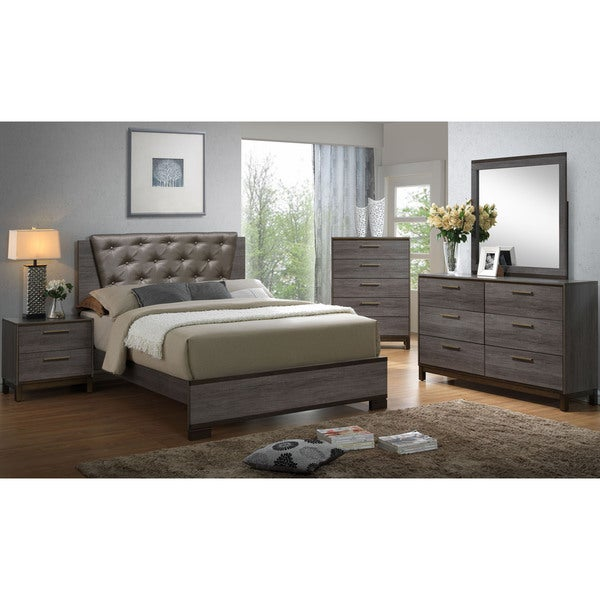 grey bed and nightstand set free shipping today