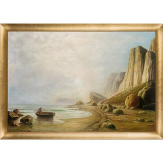 William Bradford 'Coast of Labrador' Hand Painted Framed Canvas Art