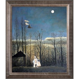 Henri Rousseau 'A Carnival Evening' Hand Painted Framed Canvas Art