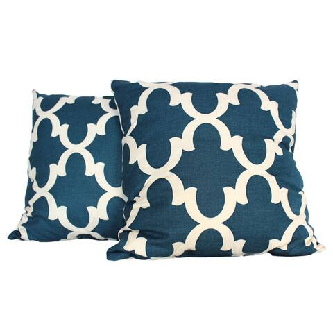 Relic Fence Navy Throw Pillow (Set of 2)