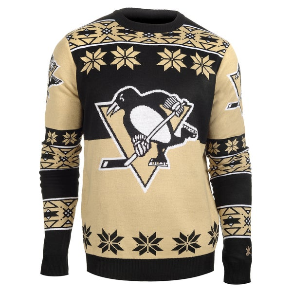 Forever Collectibles NHL Pittsburgh Penguins Big Logo Crew Neck Ugly Sweater