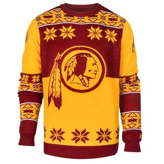 Forever Collectibles NFL Washington Redskins Big Logo Crew Neck Ugly Sweater