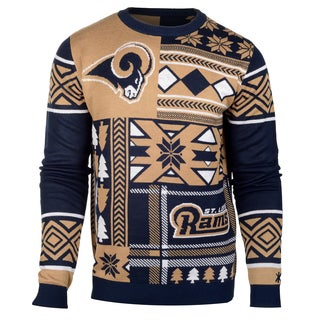 Forever Collectibles NFL St. Louis Rams Big Logo Crew Neck Ugly Sweater
