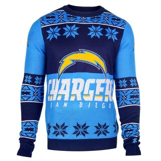 Forever Collectibles NFL San Diego Chargers Big Logo Crew Neck Ugly Sweater