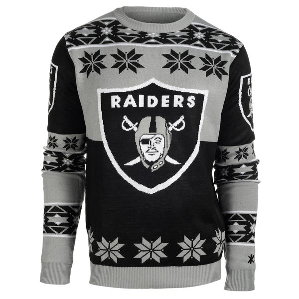 7aae885898c Shop Forever Collectibles NFL Oakland Raiders Big Logo Crew Neck Ugly  Sweater - Free Shipping On Orders Over  45 - Overstock.com - 10575458
