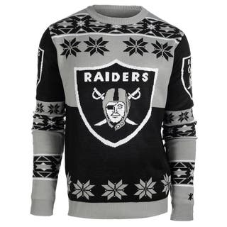 Forever Collectibles NFL Oakland Raiders Big Logo Crew Neck Ugly Sweater|https://ak1.ostkcdn.com/images/products/10575458/P17651799.jpg?impolicy=medium