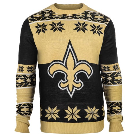 Forever Collectibles NFL New Orleans Saints Big Logo Crew Neck Ugly Sweater