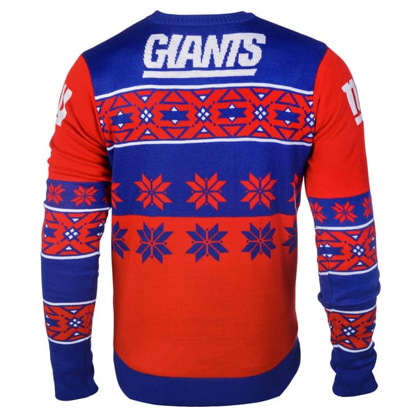 finest selection 255ed 4d473 Forever Collectibles NFL New York Giants Big Logo Crew Neck Ugly Sweater