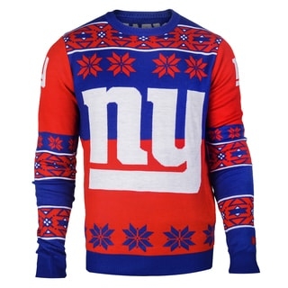 Forever Collectibles NFL New York Giants Big Logo Crew Neck Ugly Sweater