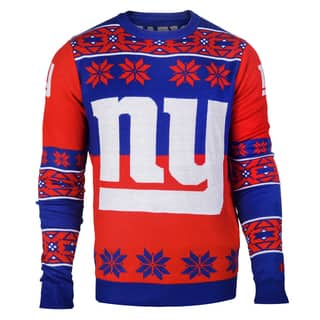 Forever Collectibles NFL New York Giants Big Logo Crew Neck Ugly Sweater|https://ak1.ostkcdn.com/images/products/10575463/P17651802.jpg?impolicy=medium