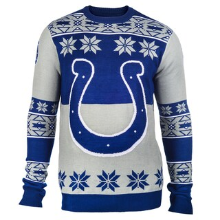 Forever Collectibles NFL Indianapolis Colts Big Logo Crew Neck Ugly Sweater