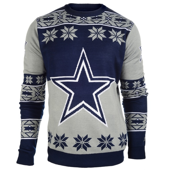 Forever Collectibles NFL Dallas Cowboys Big Logo Crew Neck Ugly Sweater