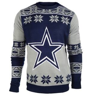 Forever Collectibles NFL Dallas Cowboys Big Logo Crew Neck Ugly Sweater|https://ak1.ostkcdn.com/images/products/10575471/P17651808.jpg?impolicy=medium
