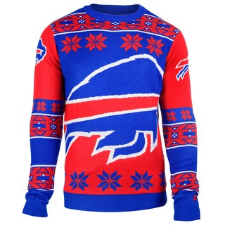 Forever Collectibles NFL Buffalo Bills Big Logo Crew Neck Ugly Sweater