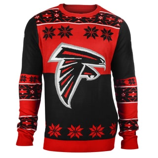 Forever Collectibles NFL Atlanta Falcons Big Logo Crew Neck Ugly Sweater