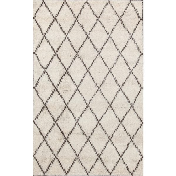 Shop ABC Accents Moroccan Beni Ourain Ivory Wool Rug