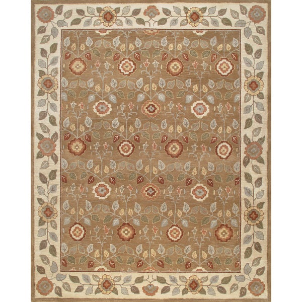 ABC Accents Persian-Style Meme Brown Beige Wool Rug - 8' x 10'