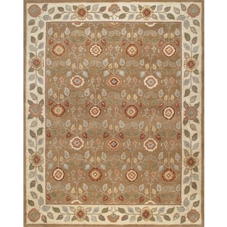 ABC Accents Persian-Style Meme Brown Beige Wool Rug (8' x 10')