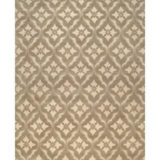 ABC Accents Floral Trellis Wool Light Grey Beige(8' x 10')