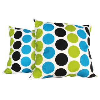 Eclectic Dots Multi-Colored Throw Pillow (Set of 2)
