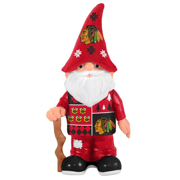 Forever Collectibles Chicago Blackhawks Real Ugly Sweater Gnome