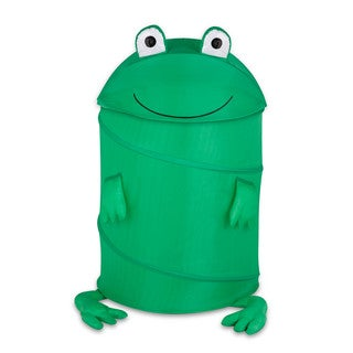 Honey Can Do HMP-02058 Large Frog Kid's Pop-Up Hamper