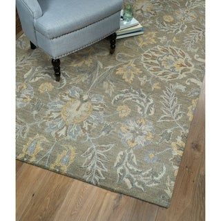 Christopher Agra Sage Hand-Tufted Rug (5'0 x 7'9)