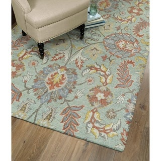 Christopher Agra Mint Hand-Tufted Rug (2'6 x 8'0)
