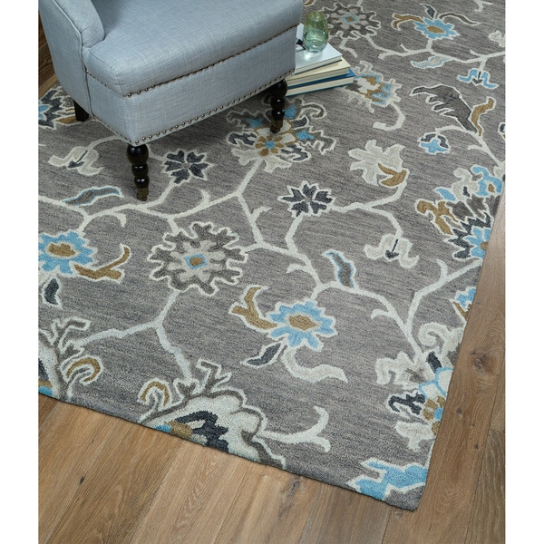 Shop Christopher Ziegler Grey Hand Tufted Rug 8 X 10