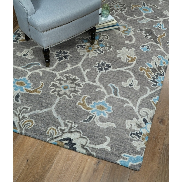 "Christopher Ziegler Grey Hand-Tufted Rug (5' x 7'9"")"